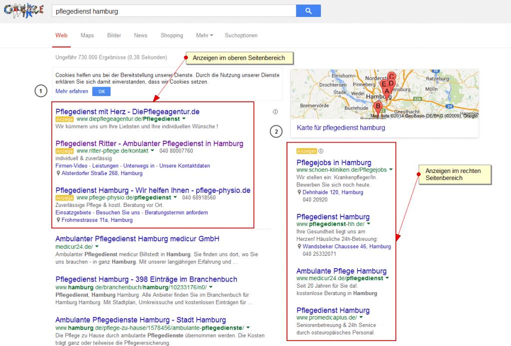 anzeigenbereich-von-google