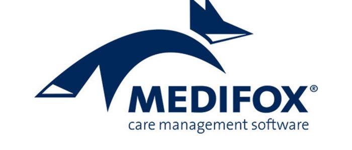 Auf diesem Bild ist das Logo der Firma Medifox zu sehen