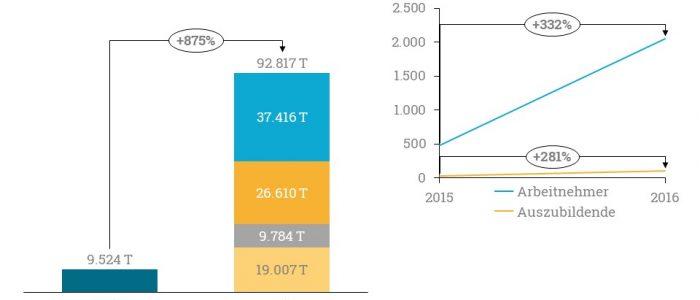 Diese Grafik zeigt die Bilanzen der Dorea Holding.