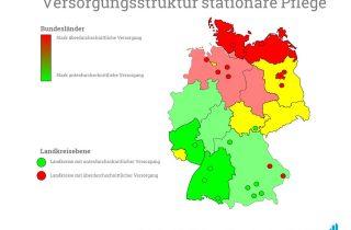Eine Karte, die die Versorgungsstruktur aufzeigt.