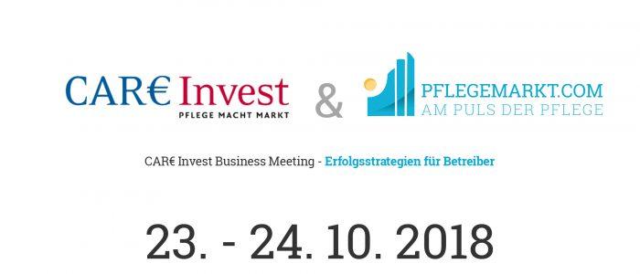CAR€ Invest Business Meeting Ankündigung