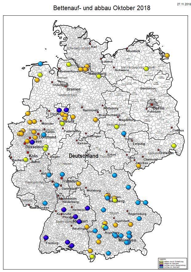 Die meisten neugegründeten Pflegeheime gab es diesen Monat in Baden-Württemberg.