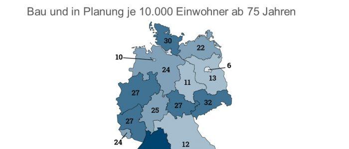 Besonders in Baden-Württemberg zeigt sich, aufgrund der neuen Einzelzimmerquote im Heimgesetz ein starker Boom an Bauvorhaben.