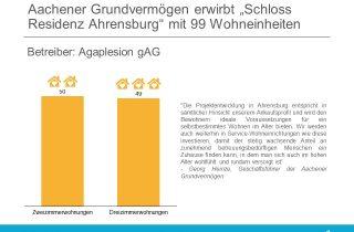 """Aachener Grundvermoegen erwirbt """"Schloss Residenz Ahrensburg"""" mit 99 Wohneinheiten"""