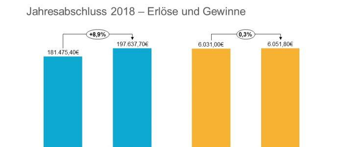 DOmicil Jahresabschluss 2018 - Erloese und Gewinne
