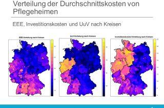 Regressionsanalyse Konstenfaktor Pflege - Verteilung Durchschnittskosten Pflegeheime