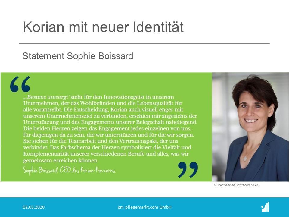 Korian Statement Sophie Boissard