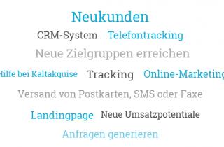 Vertrieb und Marketing Tagcloud