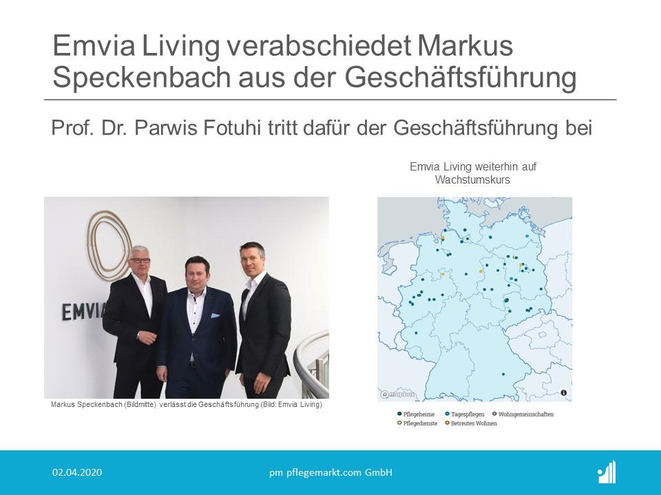 Markus Speckenbach verlässt die Geschäftsführung von Emvia Living (Bildquelle: Emvia Living)