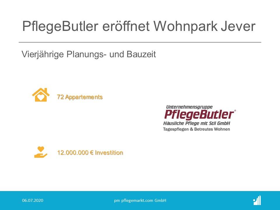 Für zwölf Millionen Euro hat PflegeButler eine Einrichtung für betreutes Wohnen in 72 Appartements sowie für Tagespflege geschaffen.