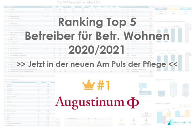 Augustinum Platz 1 der Top 5 Betreiber betreutes Wohnen 2020/2021