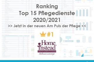 Top 15 PD Betreiber Rang 1 Webseite Titel HomeInstead