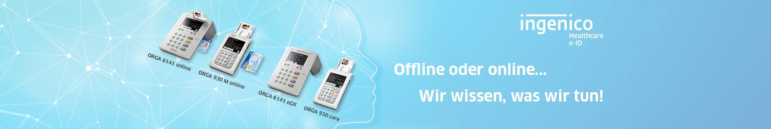 Hierzu zählt unser stationäres eHealth-Kartenterminal ORGA 6141 online, welches im November 2017 als erstes Kartenterminal die Zulassung für die Online-TI erhalten hat